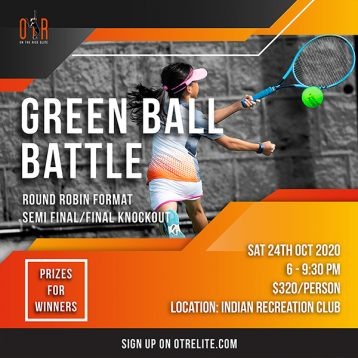 Green Ball Battle this Saturday! Round Robin Format - Semi Final/Final Knockout 3